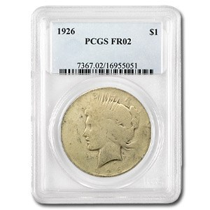 1926 Peace Dollar Fair-2 PCGS (Low Ball Registry)