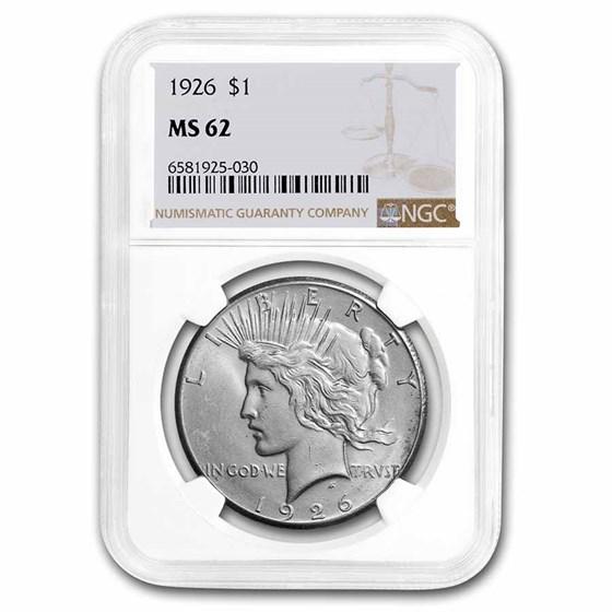 1926 Peace Dollar MS-62 NGC