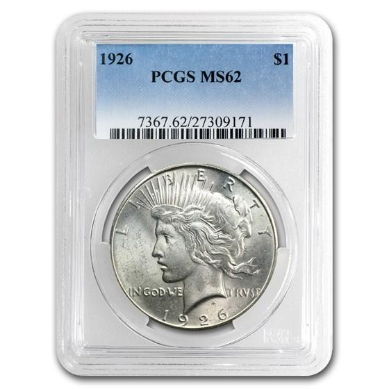 1926 Peace Dollar MS-62 PCGS