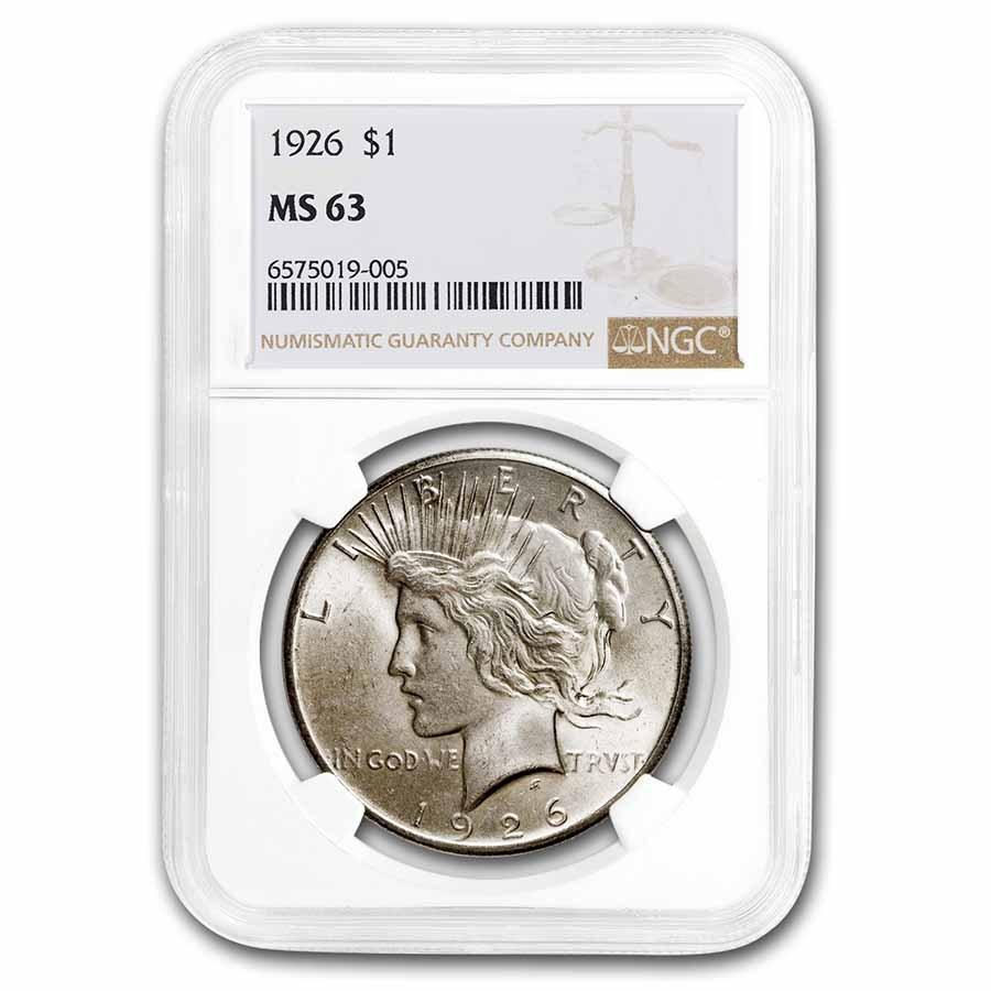 1926 Peace Dollar MS-63 NGC