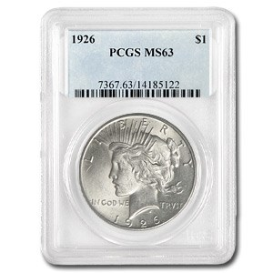 1926 Peace Dollar MS-63 PCGS (VAM-2 Doubled Leaves, Top-50)