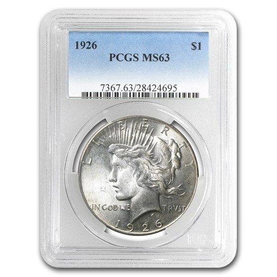 1926 Peace Dollar MS-63 PCGS