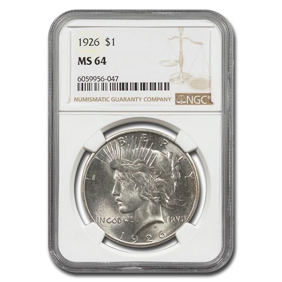 1926 Peace Dollar MS-64 NGC