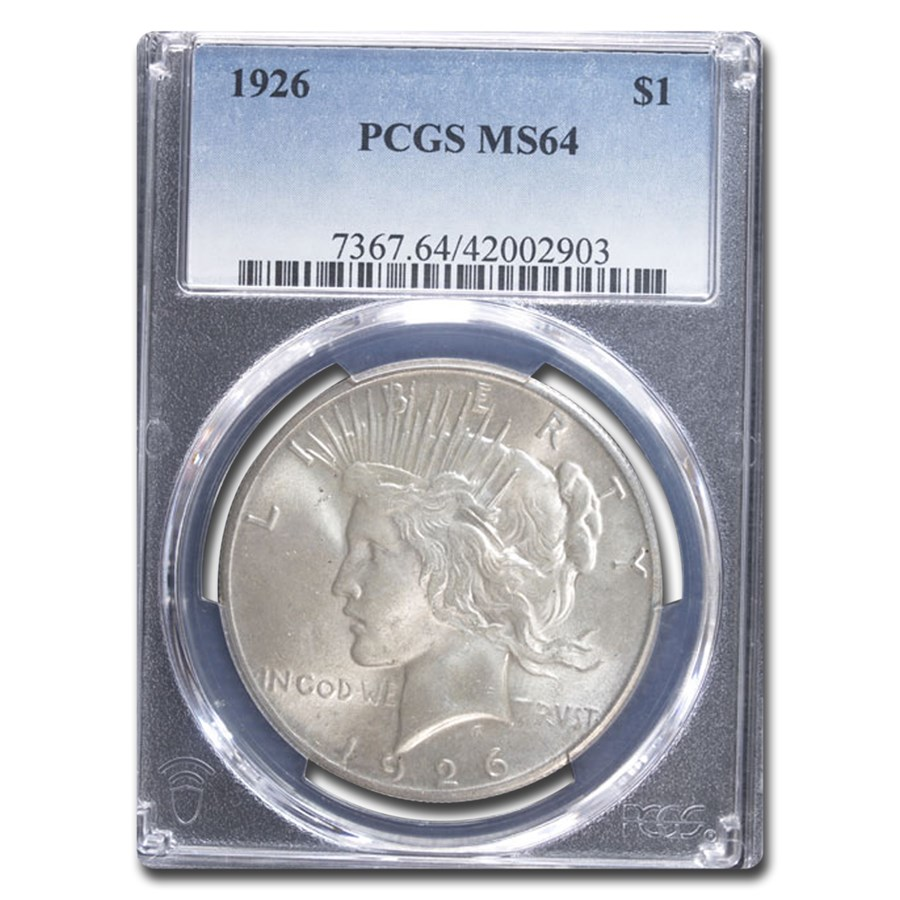 1926 Peace Dollar MS-64 PCGS
