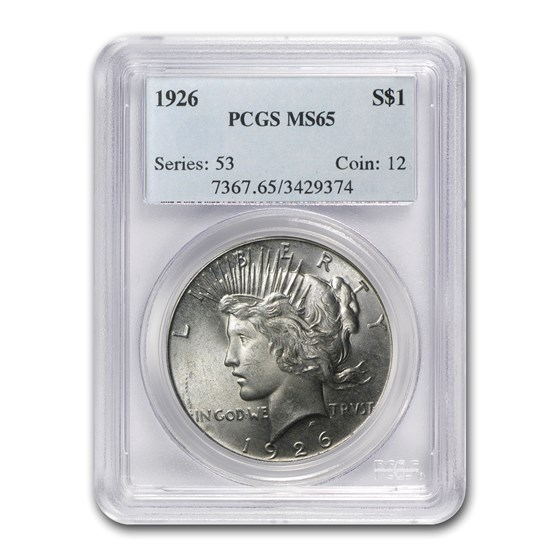 1926 Peace Dollar MS-65 PCGS