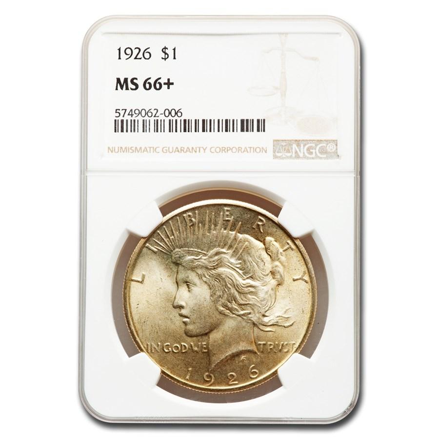 1926 Peace Dollar MS-66+ NGC