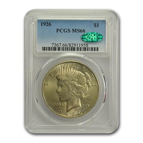 1926 Peace Dollar MS-66 PCGS CAC