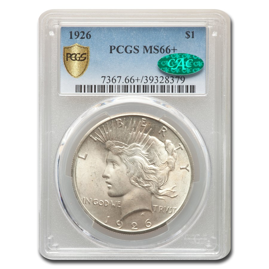 1926 Peace Dollar MS-66+ PCGS CAC