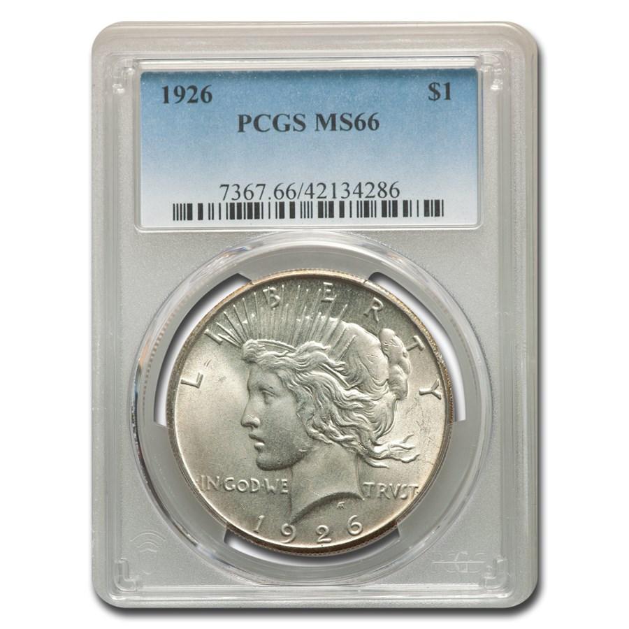1926 Peace Dollar MS-66 PCGS