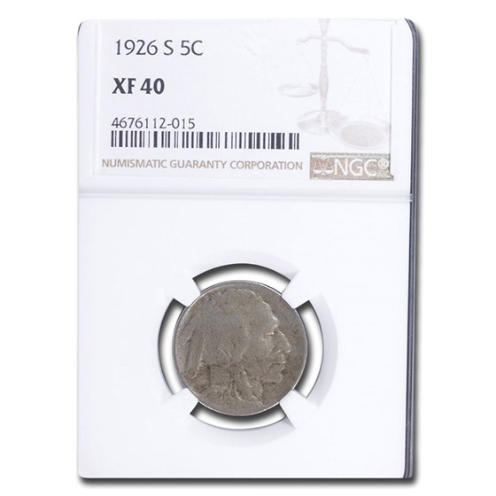 1926-S Buffalo Nickel XF-40 NGC