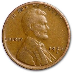 1926-S Lincoln Cent Fine