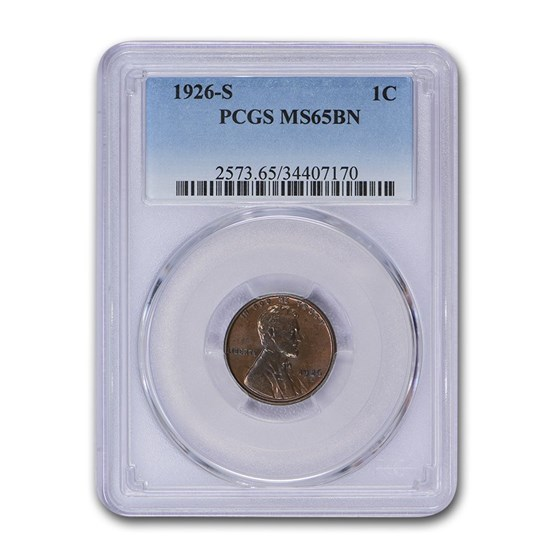 1926-S Lincoln Cent MS-65 PCGS (Brown)
