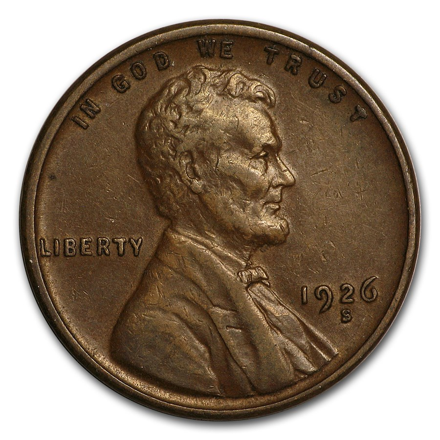 1926-S Lincoln Cent XF