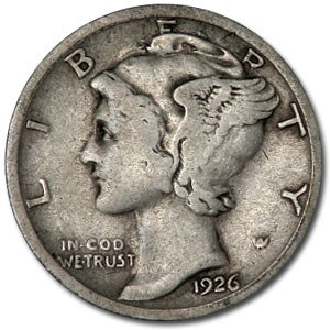 1926-S Mercury Dime Fine