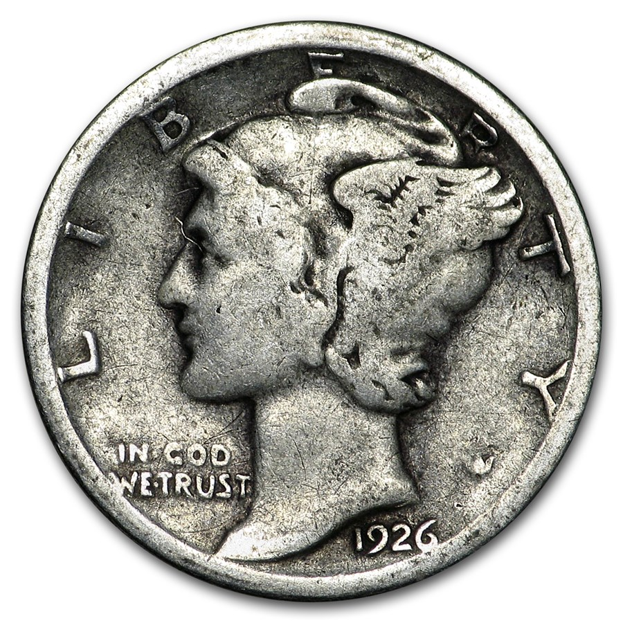 1926-S Mercury Dime Good