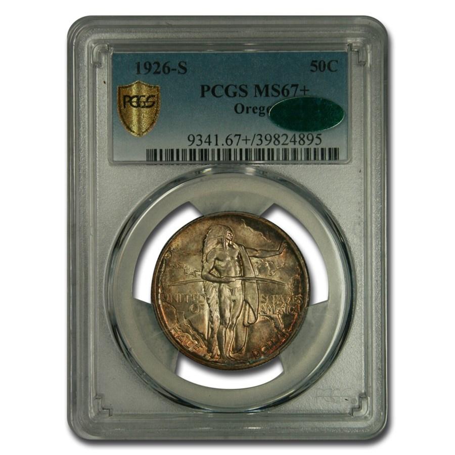 1926-S Oregon Half Dollar MS-67+ PCGS CAC