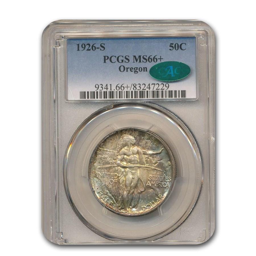 1926-S Oregon Trail Commemorative Half Dollar MS-66+ PCGS CAC