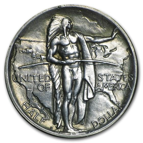 1926-S Oregon Trail Memorial Half Dollar Commem AU