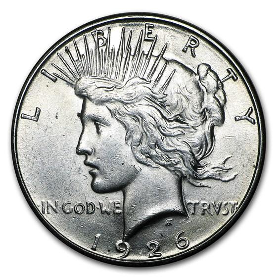 1926-S Peace Dollar AU-58