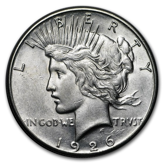 1926-S Peace Dollar AU