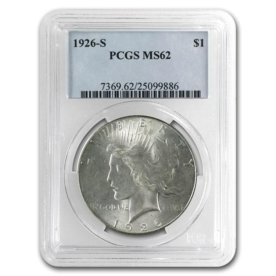 1926-S Peace Dollar MS-62 PCGS