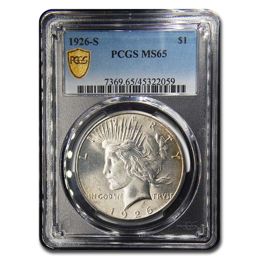 1926-S Peace Dollar MS-65 PCGS (Toned)