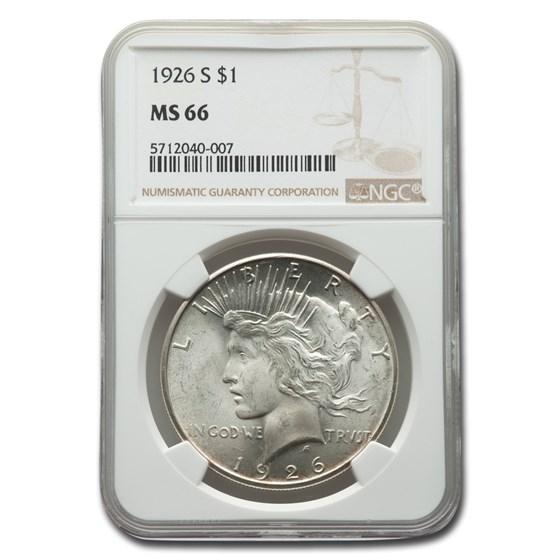 1926-S Peace Dollar MS-66 NGC