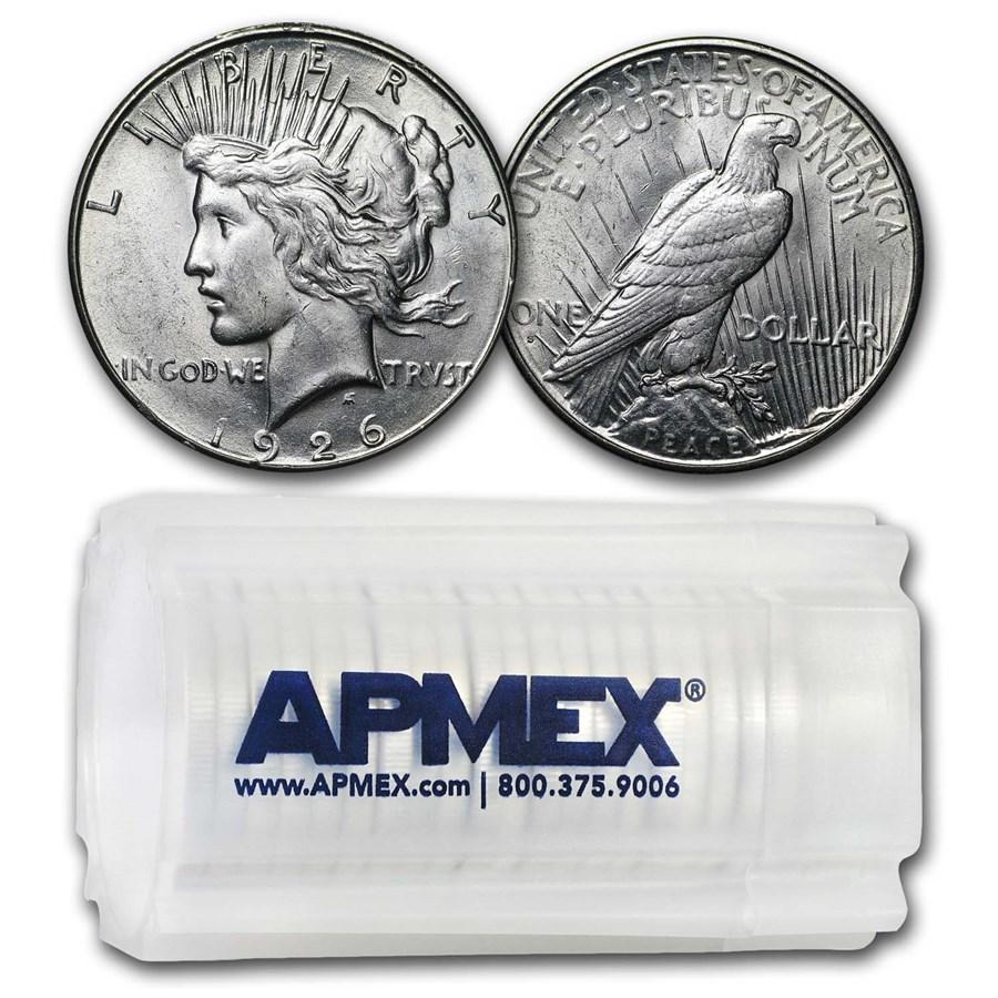 1926-S Peace Silver Dollars AU (20-Coin Roll)