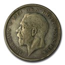 1927-1936 Great Britain Silver Half Crown George V Avg Circ