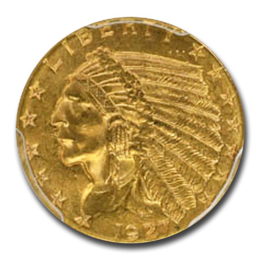 1927 $2.50 Indian Gold Quarter Eagle MS-64 PCGS CAC