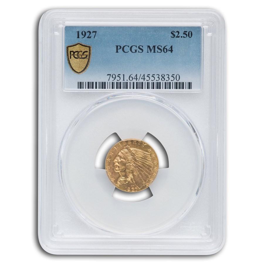 1927 $2.50 Indian Gold Quarter Eagle MS-64 PCGS