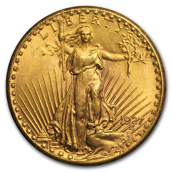 1927 $20 Saint-Gaudens Gold Double Eagle AU