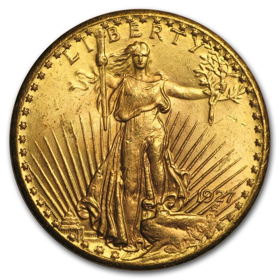 1927 $20 Saint-Gaudens Gold Double Eagle BU