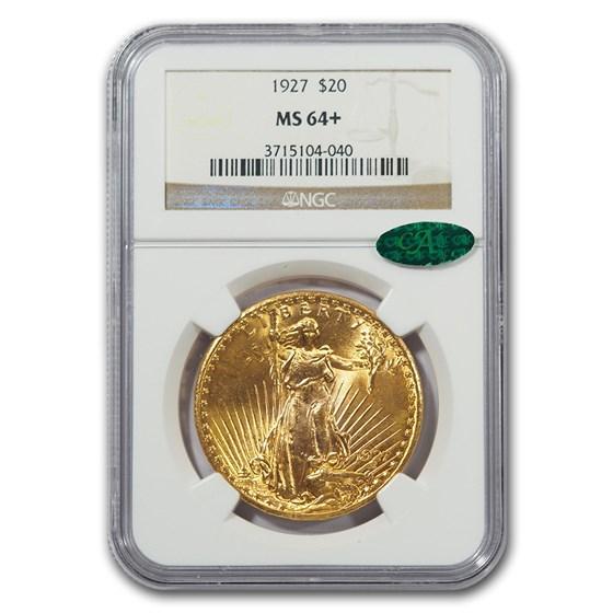 1927 $20 Saint-Gaudens Gold Double Eagle MS-64+ NGC CAC