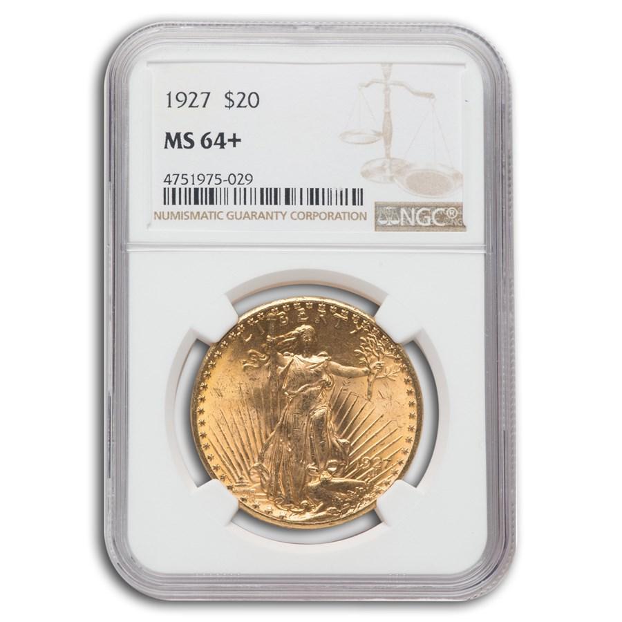 1927 $20 Saint-Gaudens Gold Double Eagle MS-64+ NGC (Plus)