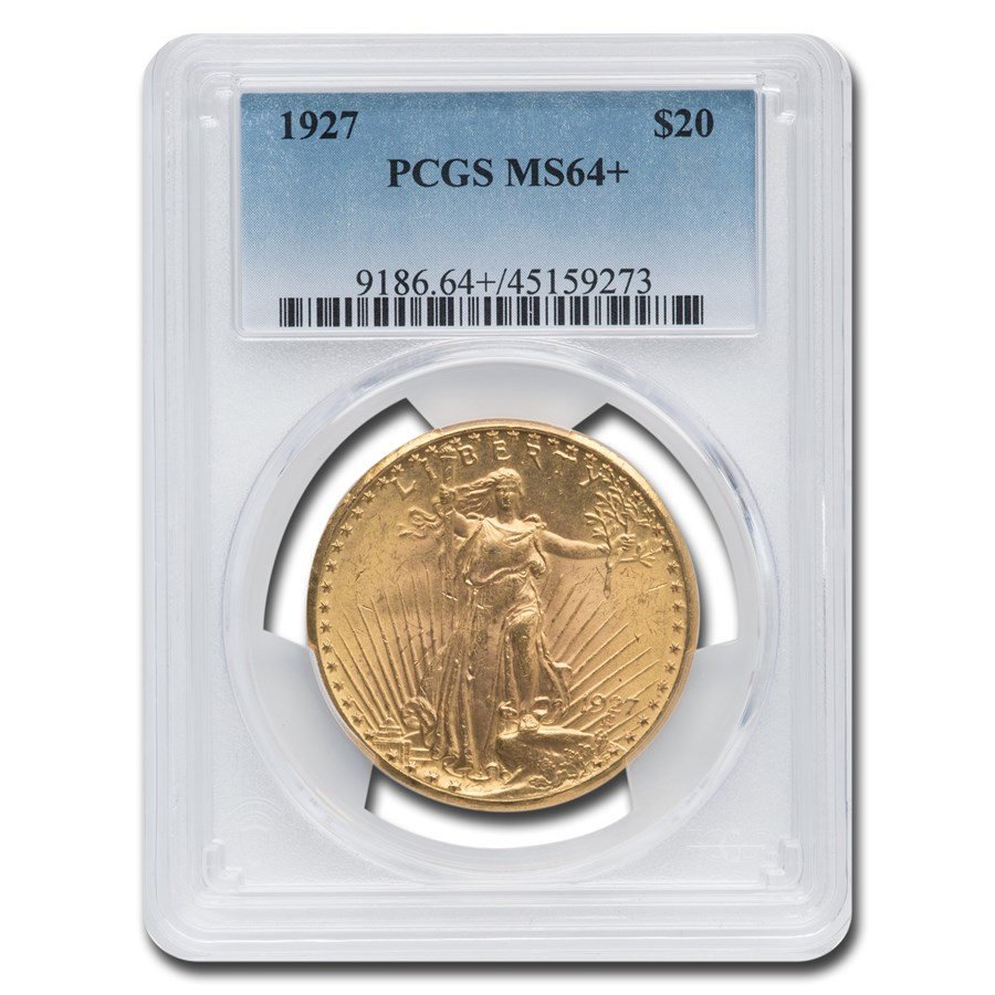 1927 $20 Saint-Gaudens Gold Double Eagle MS-64+ PCGS