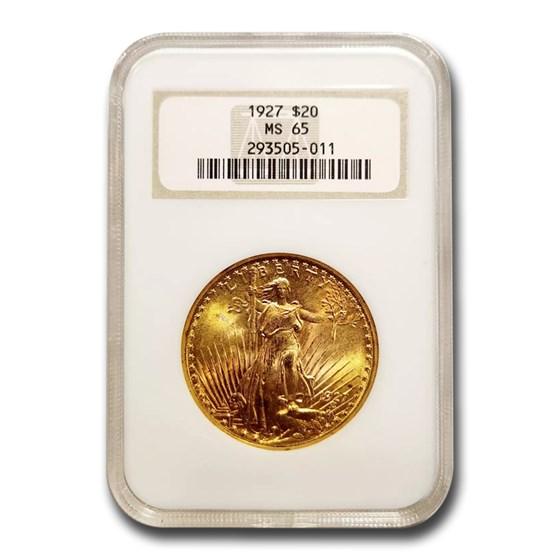 1927 $20 Saint-Gaudens Gold Double Eagle MS-65 NGC
