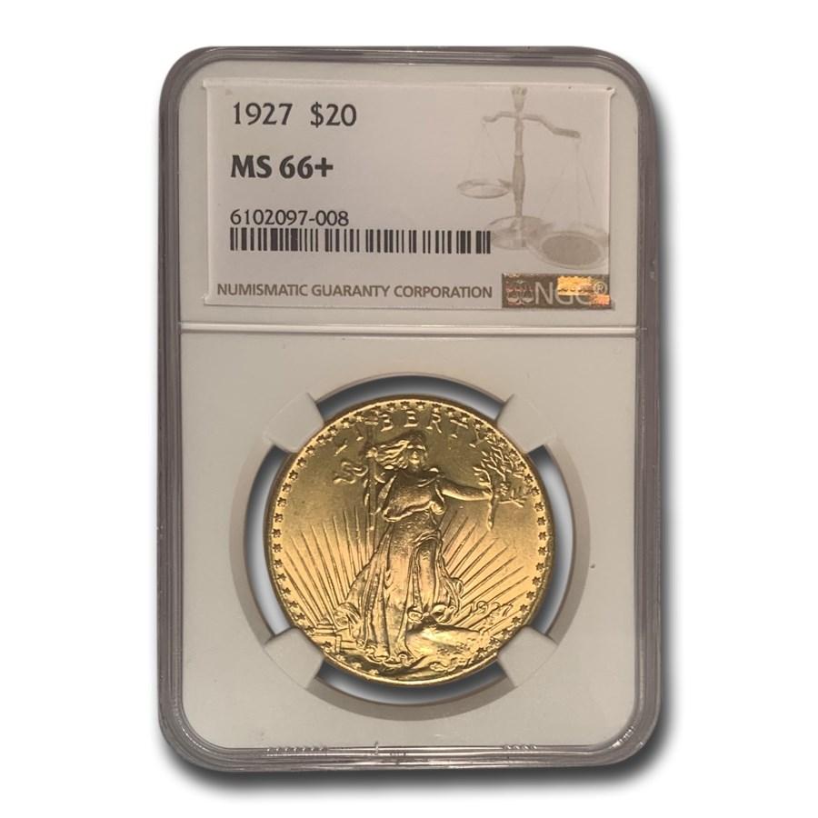 1927 $20 Saint-Gaudens Gold Double Eagle MS-66+ NGC (Plus)