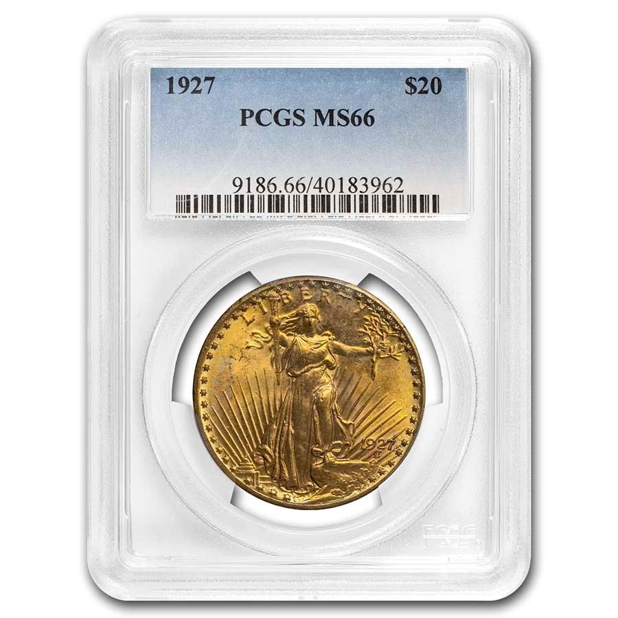 1927 $20 Saint-Gaudens Gold Double Eagle MS-66 PCGS