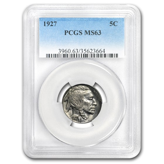1927 Buffalo Nickel MS-63 PCGS