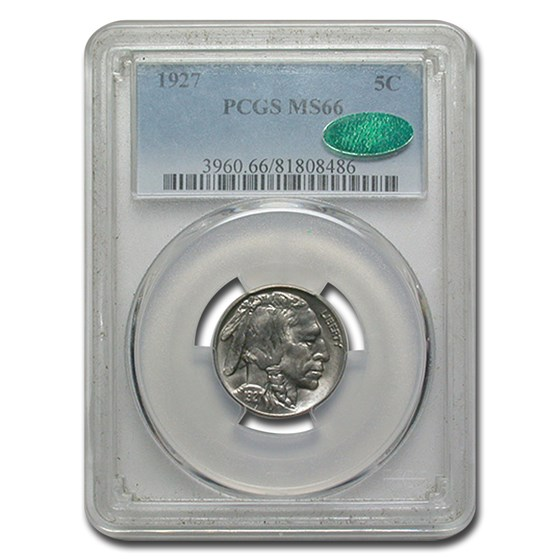 1927 Buffalo Nickel MS-66 PCGS (CAC)