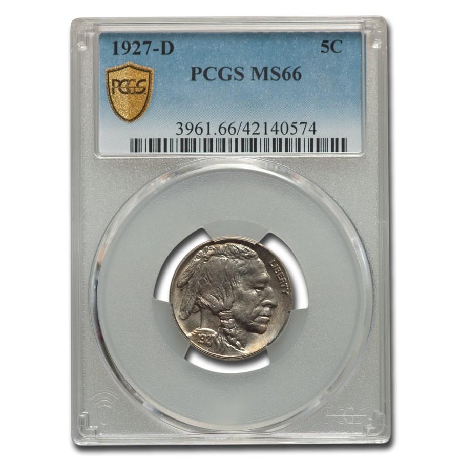 1927-D Buffalo Nickel MS-66 PCGS