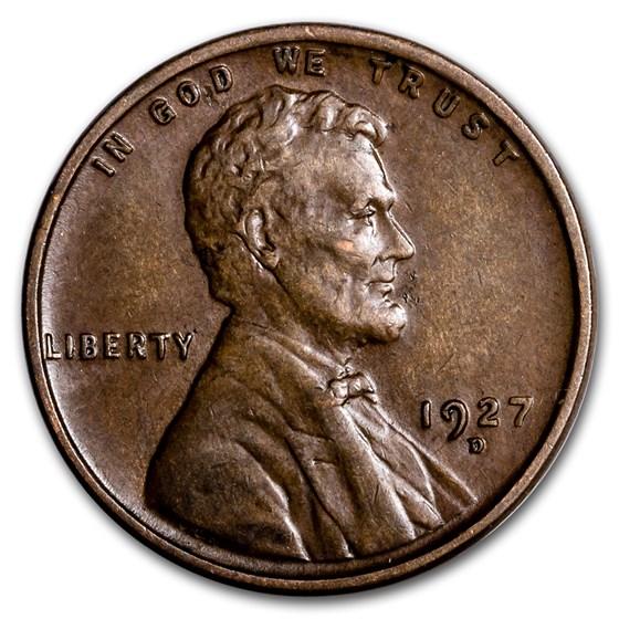 1927-D Lincoln Cent AU