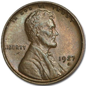 1927-D Lincoln Cent BU (Brown)