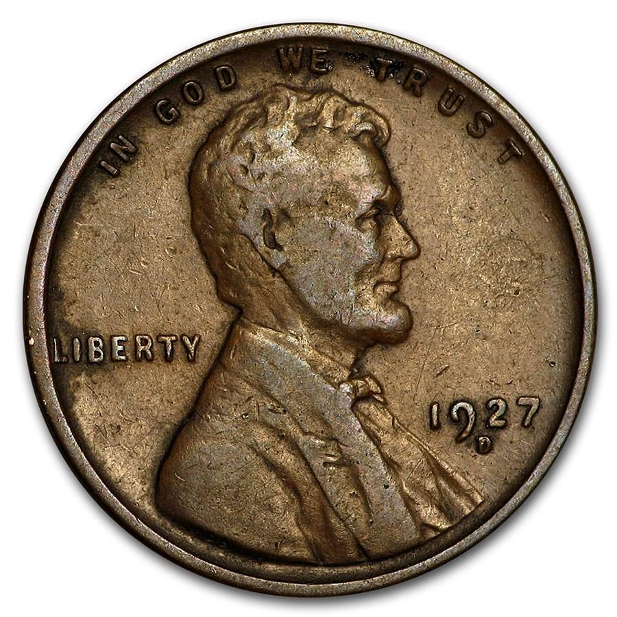 1927-D Lincoln Cent Good/Fine