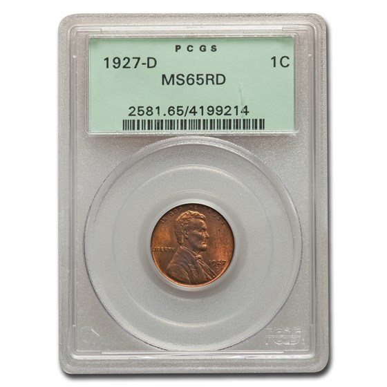 1927-D Lincoln Cent MS-65 PCGS (Red)