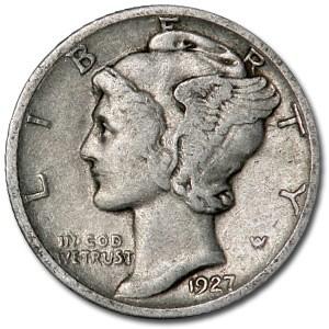 1927-D Mercury Dime VF