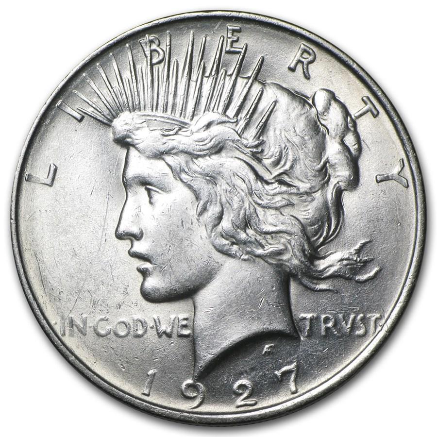 1927-D Peace Dollar AU
