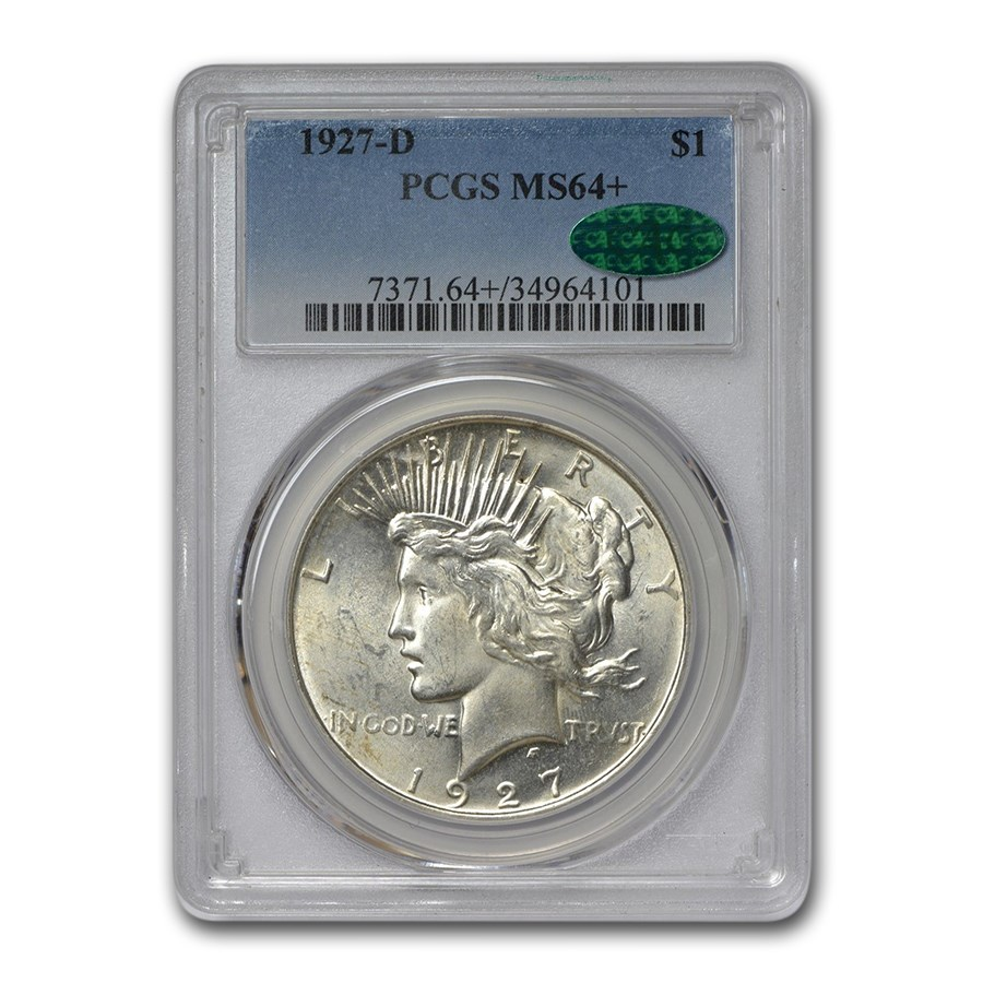 1927-D Peace Dollar MS-64+ PCGS CAC