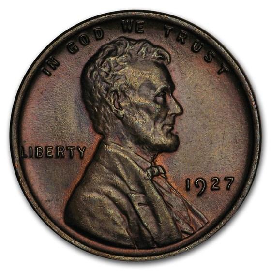 1927 Lincoln Cent AU